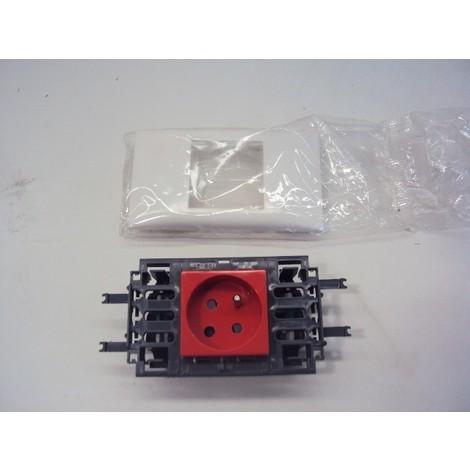 Bloc prise 2P+T à detrompage type 45 avec support couvercle 65mm DLP LEGRAND 073181