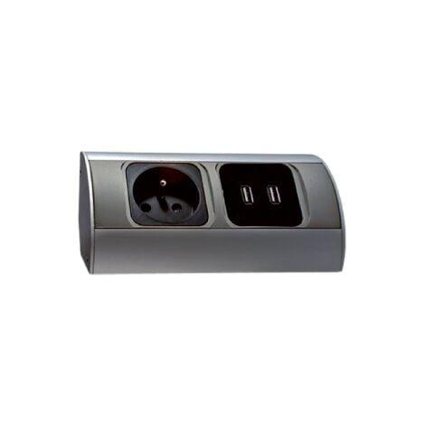 Bloc prises cuisine avec 2 prises USB pour charger vos appareils - Orno