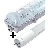 Bloc tube LED 1,20 m 18W blanc neutre étanche IP65