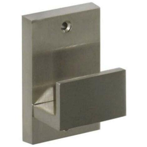 Block coat hook - stainless steel finish