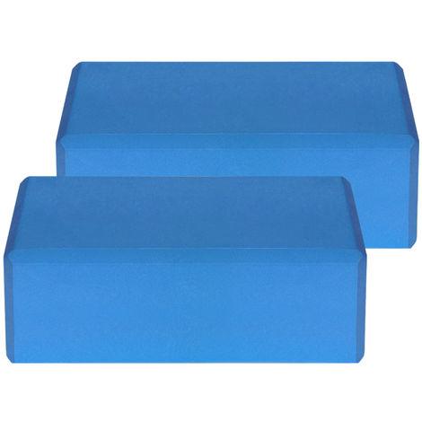 Blocs De Yoga Eva, Surface Antiderapante Sans Latex, 2Pcs, Bleu