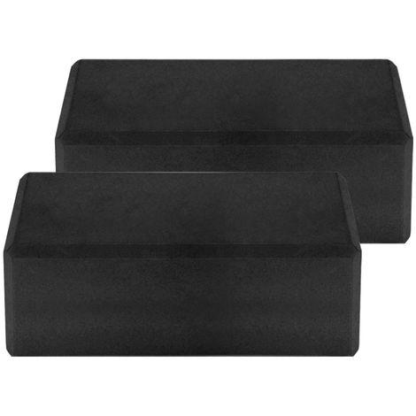 Blocs De Yoga Eva, Surface Antiderapante Sans Latex, 2Pcs, Noir