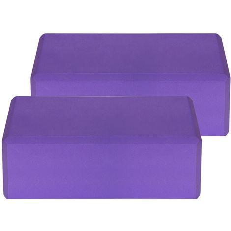 Blocs De Yoga Eva, Surface Antiderapante Sans Latex, 2Pcs, Violet