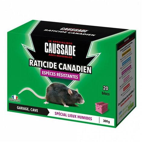 Blocs raticide canadien - espèces résistantes - 300g CAUSSADE