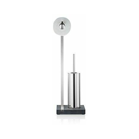Blomus 68820 Menoto Dévidoir de toilettes avec brosse WC intégrée Métal poli