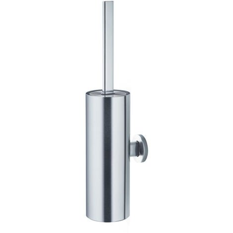 Blomus Areo WC-Bürste, mit Wandhalter, Toilettenbürste, Edelstahl Matt / Kunststoff, 68805