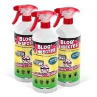 Bloq' insectes lot de 3