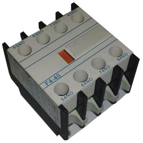 Bloque 4 contactos 3NA 1NC frontales para contactores