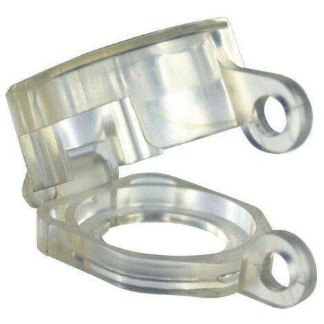 Bloque bouton diam 22 mm corps en resine transparente