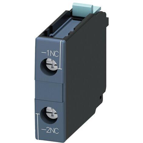 Bloque de interruptores auxiliares Siemens 1NC terminal de tornillo 3RH19211CA10