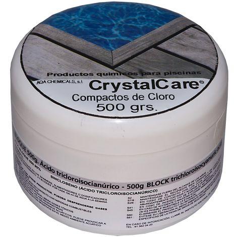 Bloque pastilla compacto cloro de disolución lenta. Pastilla 500 gr