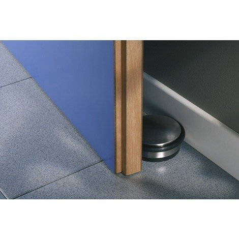 Bloque porte buttée Mottez - Nickelé mat - Diamètre 100 mm