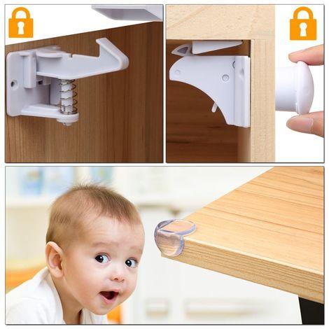 Bloque porte placard bloque tiroir s curit enfant verrouillage b b serrures verrous magn tique - Bloc porte securite bebe ...