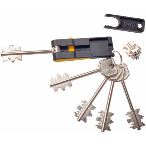 Bloque Seg. Cerradura 92mm 3130 4 Llaves+1 Plegable Mia-atra