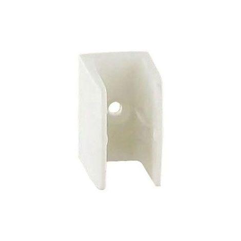 Bloqueur clip - Décor : Blanc - Matériau : Polypropylène - RAL : 9010 - ITAR - Vendu à l'unité
