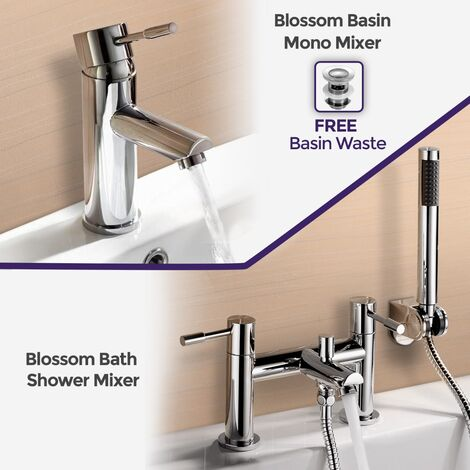 """main image of """"Blossom Mono Bath Filler Shower Mixer and Basin Tap"""""""