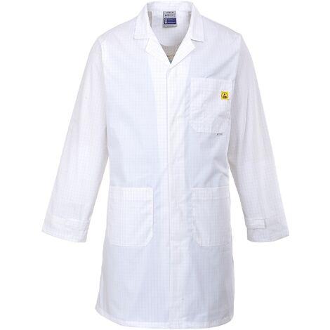 Blouse antistatique ESD - Portwest - Blanc - Mixte Blanc XL - Blanc