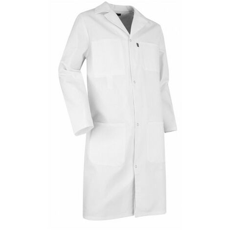 Blouse blanche de laboratoire 100% coton PALETTE LMA Blanc