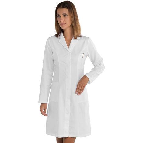 Blouse blanche laboratoire femme Isacco Valencia 100% coton Blanc