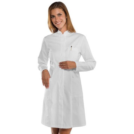 Blouse blanche médicale femme Isacco Camice Catalina manches longues