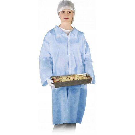 Blouse bleue de protection de laboratoire avec fer