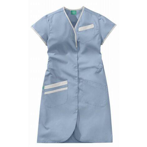 Blouse Daphnée bleu ciel et blanc 50/50 polyester/coton LAFONT - Taille 2 (44-46) - 8PMC00PC011752