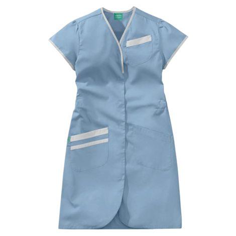 Blouse Daphnée bleu ciel et blanc 50/50 polyester/coton LAFONT - Taille 4 (52-54) - 8PMC00PC011754