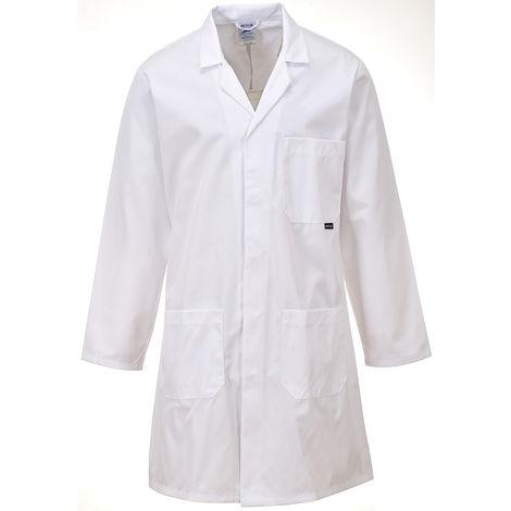 Blouse de laboratoire, Unisexe, Blanc, taille S, Coton, polyester