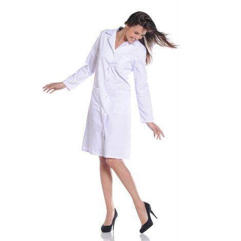 GALA Blouse de travail femme manches longues Blanc - T. 6 - OURY