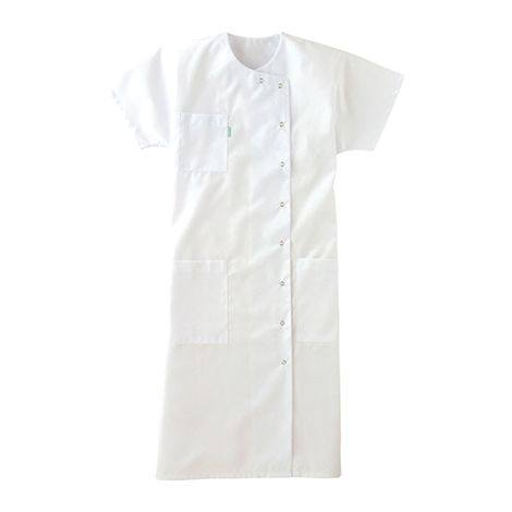 Blouse femme manches longues blanche 65/35 polyester/coton LAFONT - Taille 3 (48-50) - 8LYSBY3BLANCT3