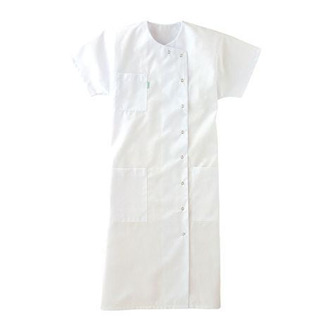 Blouse manches courtes blanche 65/35 polyester/coton LAFONT - Taille 5 (56-58) - 8YDABY3BLANCT5