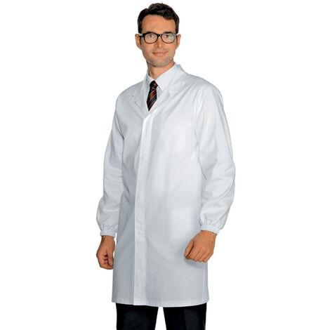 Blouse médicale sans poches poignets élastiqués Isacco homme 100% coton