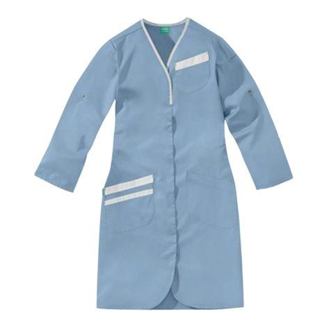 Blouse Nomia bleu ciel et blanc 50/50 polyester/coton LAFONT - Taille 0 (36-38) - 8MLC00PC011750