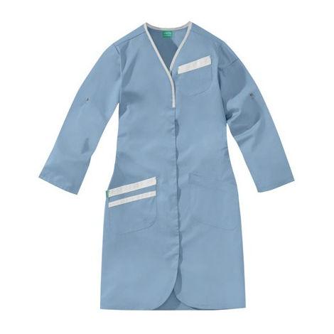 Blouse Nomia bleu ciel et blanc 50/50 polyester/coton LAFONT - Taille 4 (52-54) - 8MLC00PC011754