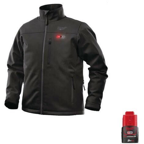 Blouson chauffant Milwaukee Noir M12 HJBL4-0 Taille M 4933464323 - Batterie M12 12V 3.0Ah - Noir
