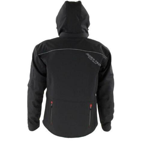 Saison/&/Ét/é Mi Coques homologu/ées CE Imperm/éable RIDER-TEC Taille-3XL Blouson Moto Urban SoftShell Noir Protections Fournies