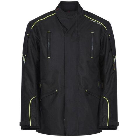 Blouson de Moto Homme Winter Jacket 3/4 Rider-Tec Textile Noir & Jaune