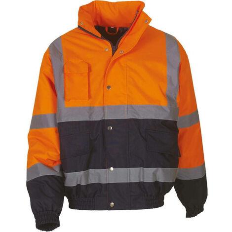 Blouson de travail bicolore haute visibilité YOKO Orange / Marine XL