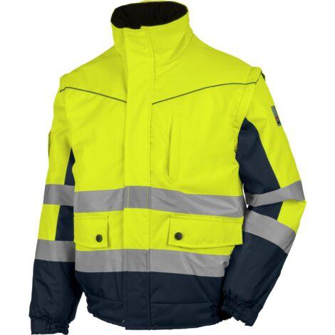 Blouson de travail Würth MODYF 2 en 1 haute-visibilité jaune/marine