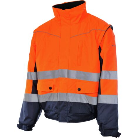 Blouson de travail Würth MODYF 2 en 1 haute-visibilité orange/marine - XXL