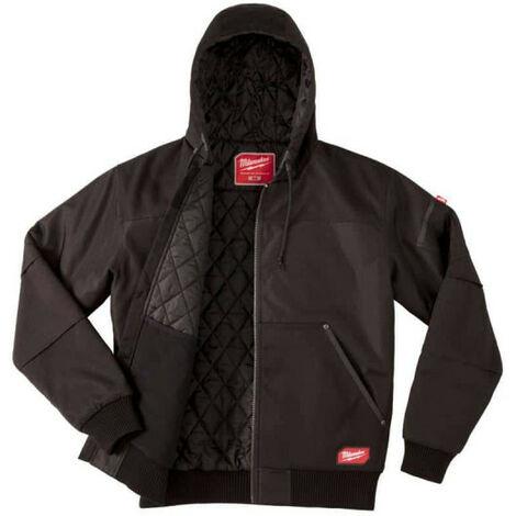 Blouson noir à capuche Milwaukee WGJHBL Taille L 4933459437 - Noir