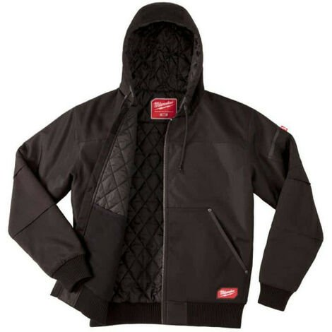 Blouson noir à capuche Milwaukee WGJHBL Taille S 4933459435 - Noir