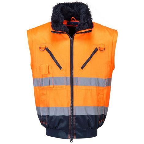 LMA 1408 BALISE Pantalon haute visibilit/é Bleu//Orange Fluo Taille 50
