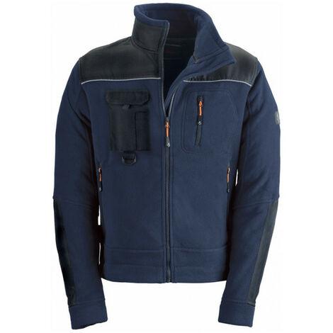 Blouson polaire souple et confortable bleu SMART avec poches et renforcements KAPRIOL - plusieurs modèles disponibles