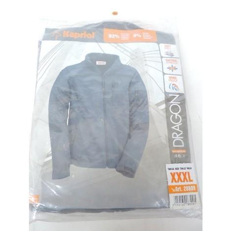Blouson softshell DRAGON gris-noir KAPRIOL- plusieurs modèles disponibles