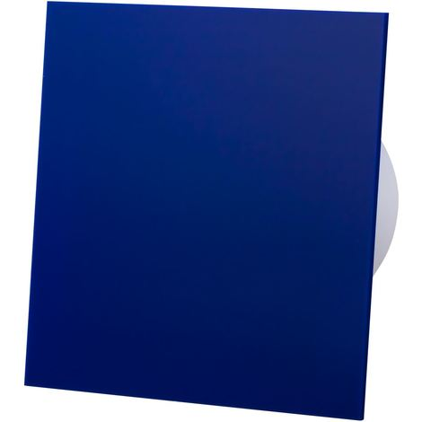 Blue Acrylic Glass Front Panel 100mm Humidity Sensor Extractor Fan for Wall Ceiling Ventilation