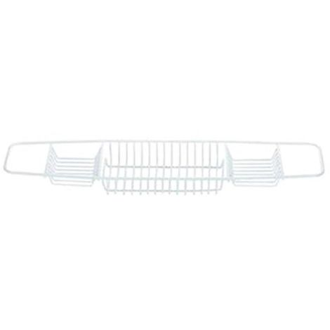 Blue Canyon Bath Rack - Ideal Shelf for Soap / Flannels - White - Plastic