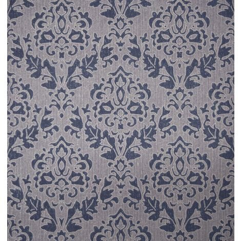 Blue Damask Wallpaper Superior Wallcoverings Textured Paste The Wall