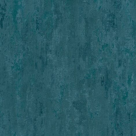 Blue Distressed Industrial Wallpaper AS Creation Textured Metallic Effect Vinyl