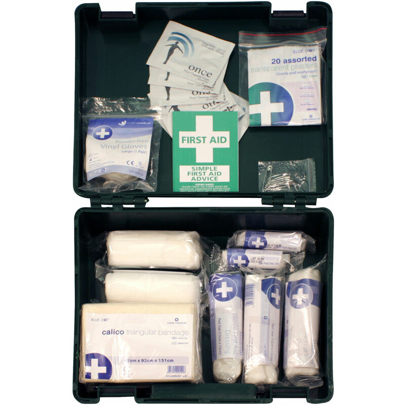Image of 10E 10 Person Standard Hse Compliant First Aid Kit - Blue Dot
